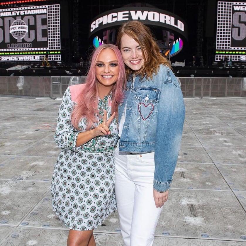 Emma Stone Meets the Spice Girls at Wembley Stadium | POPSUGAR Celebrity UK