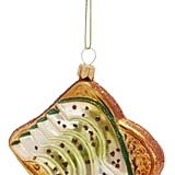 Avocado Toast Glass Ornament