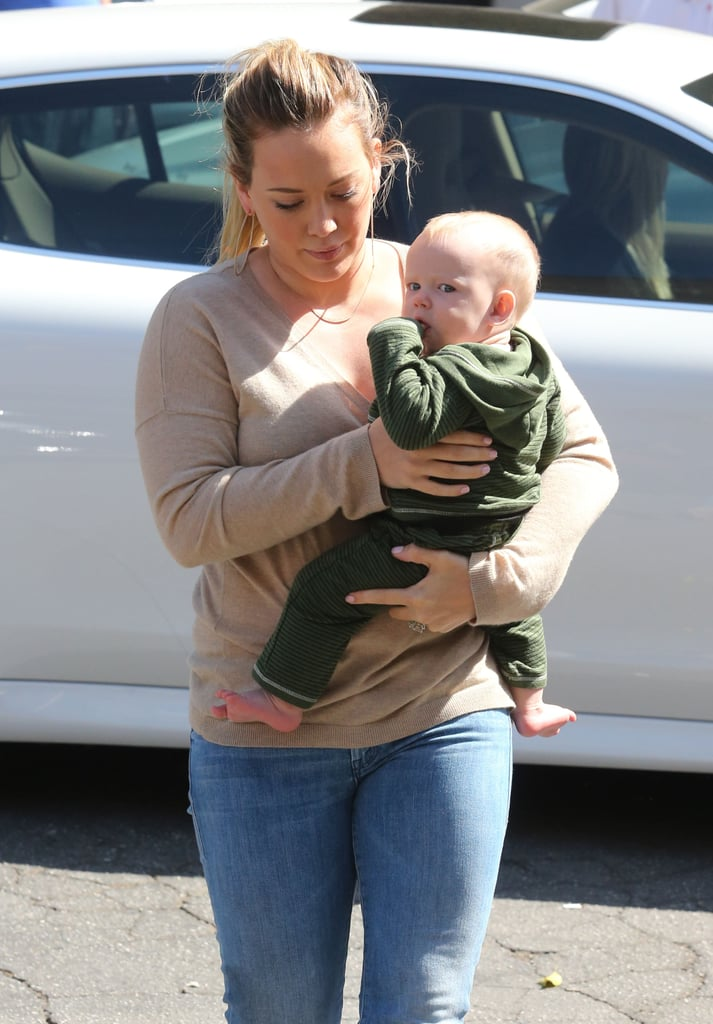 Hilary Duff and Luca Comrie made a trip to Beverly Hills.