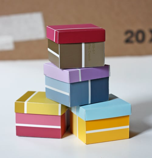 Paint Chip Gift Boxes