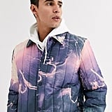 ASOS Design Puffer Jacket With Print