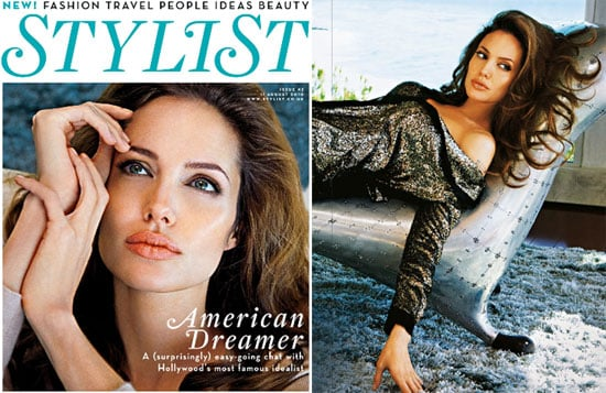 Pictures of Angelina Jolie in Stylist Magazine