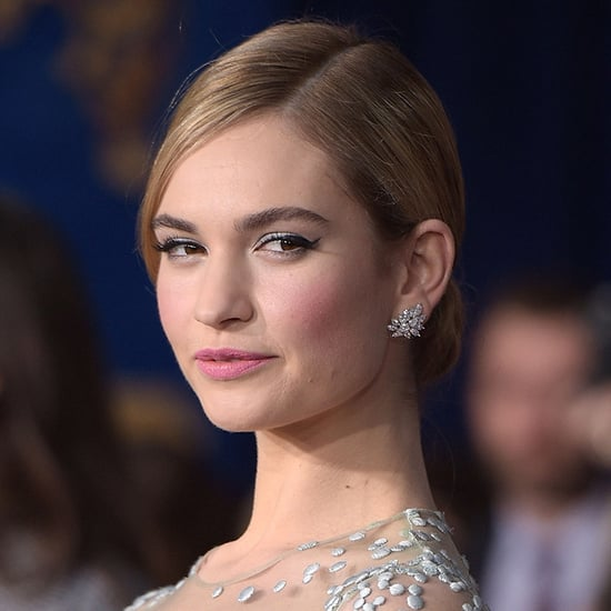 Lily James Hair and Makeup Pictures