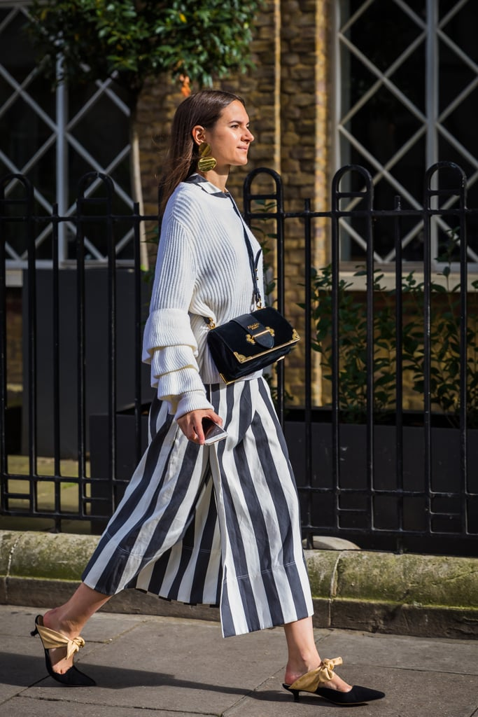 Bold sleeves meet bold stripes.