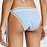 Shoshanna Lace Up Crochet Knit Bikini Bottoms