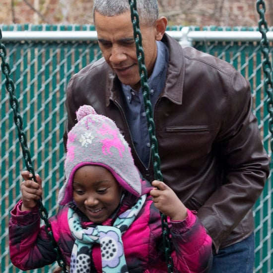 Barack Obama at Playground With Kids January 2017