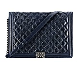 Chanel Navy Blue Quilted Leather Boy Chanel Bag Photo courtesy of Chanel