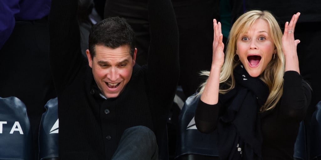Reese Witherspoon and Jim Toth at Lakers Game   Pictures