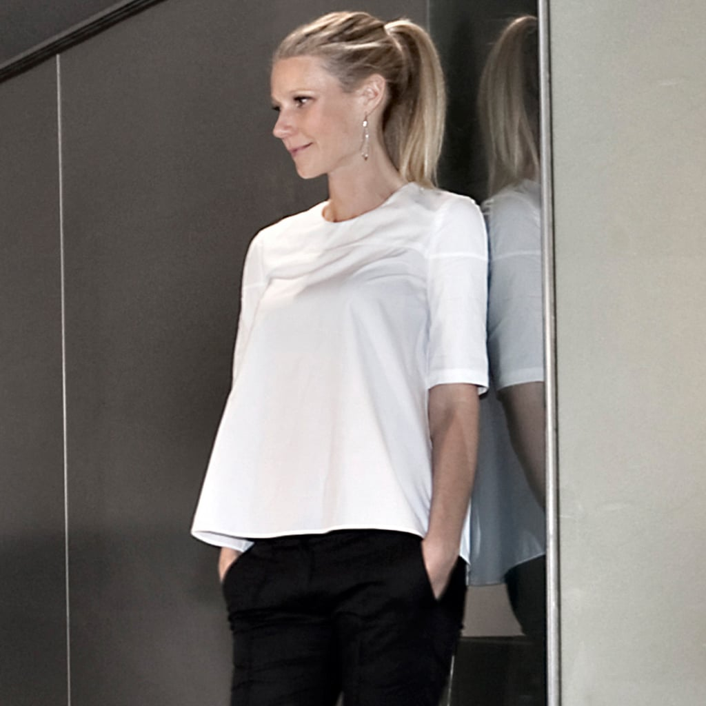 Gwyneth Paltrow Wearing Black and White