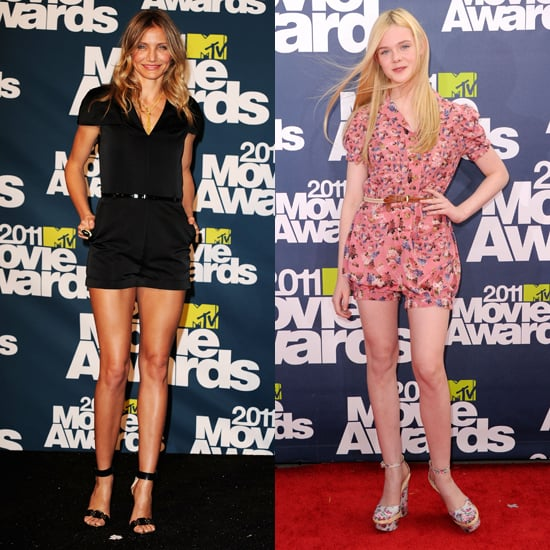 Cameron Diaz and Elle Fanning Wear Rompers to the MTV Movie Awards