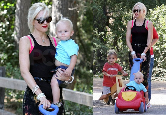 Photos of Gwen Stefani, Kingston Rossdale, and Zuma Rossdale at a Park in LA