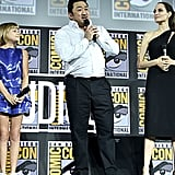 Pictured: Lia McHugh, Don Lee, and Angelina Jolie at San Diego Comic-Con.