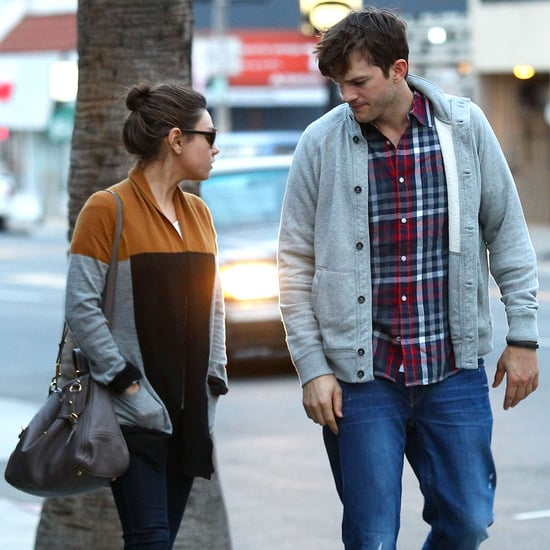 Mila Kunis and Ashton Kutcher Out in LA Post-Engagement