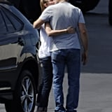 Calista Flockhart and Harrison Ford locked lips in LA in August.