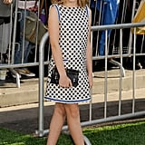 Kiernan Shipka wore a polka dotted dress to the premiere of The Odd Life of Timothy Green in LA.