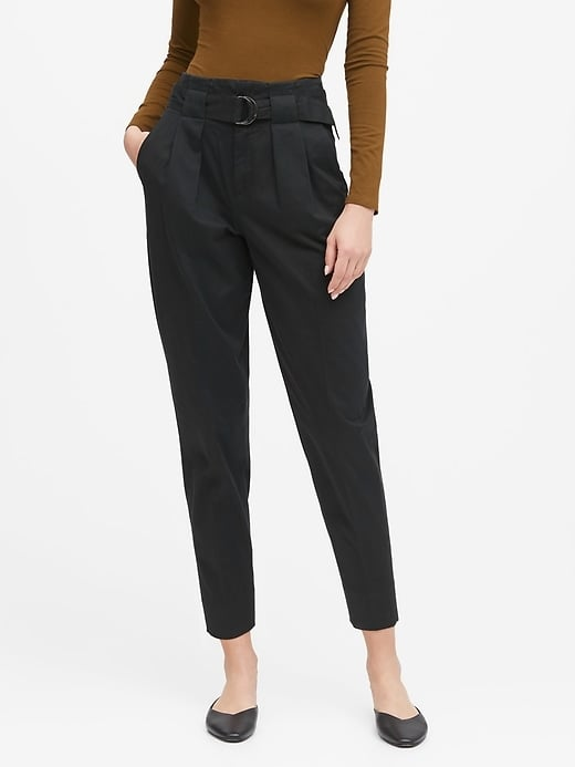 High-Rise Tapered Cropped Pants