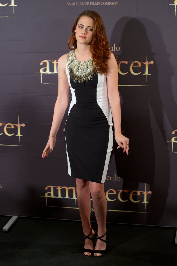 Kristen Stewart attended a Breaking Dawn —Part 2 photo call in Madrid.