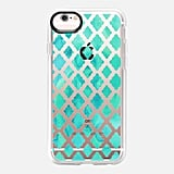Mint Green Watercolor Diamond Pattern ($40)