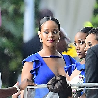 Rihanna Blue Bridesmaid Dress 2018