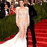 Kim Kardashian's Dress Daily Front Row Fashion Awards 2017