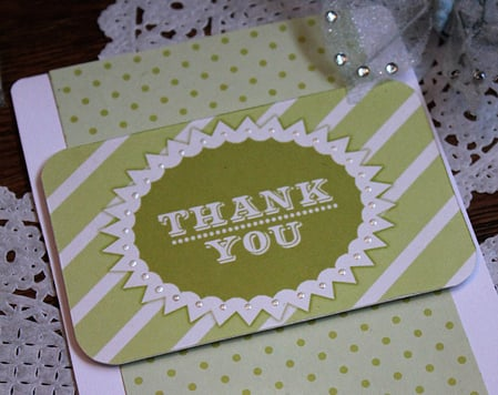 Bold Striped Thank You Card