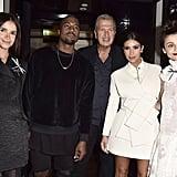 Miroslava Duma, Kanye West, Mario Testino, Kim Kardashian, and Natalia Alaverdian