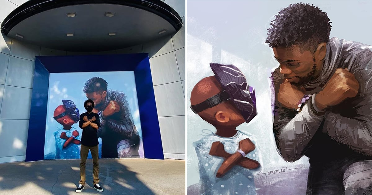 Disneyland Honored Chadwick Boseman's Legacy With a Beautiful Black Panther Mural