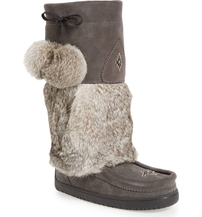 Manitobah Mukluks Snowy Owl Waterproof Genuine Fur Waterproof Boot