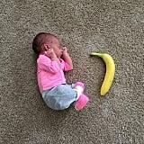 Baby vs. banana.