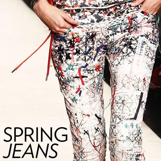 Shop Floral and Leopard Printed Jeans Spring 2012