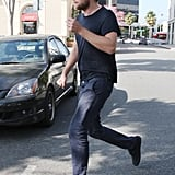 Robert Pattinson looks casual during his LA day.