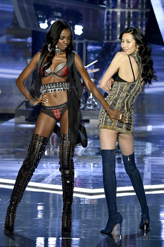 Pictured: Leomie Anderson and Liu Wen