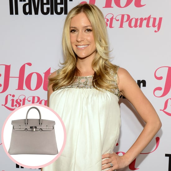 "Six weeks ago Kristin Cavallari gave birth to baby Camden and was surprised with another nice lil gift that she can carry on her arm — an Hermès Birkin bag. She said, ""I got a gray Birkin bag. I was really excited about it. [Jay] did a good job."""