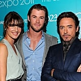 Cobie Smulders joined Chris Hemsworth and Robert Downey Jr. at D23.