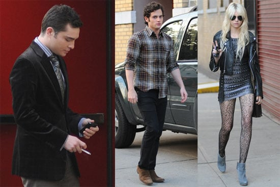 Photos of Taylor Momsen, Penn Badgley, Ed Westwick and Matthew Settle Filming Gossip Girl in NYC