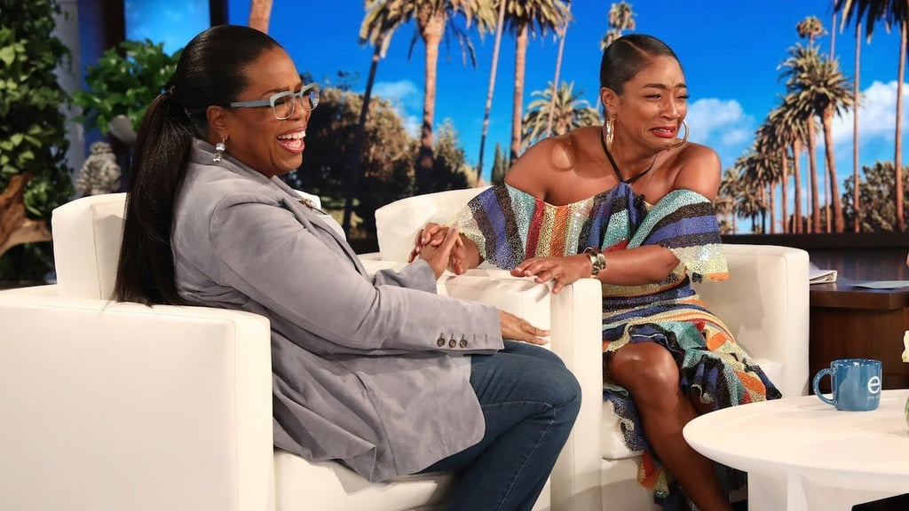 Tiffany Haddish Got a Surprise Visit From Oprah