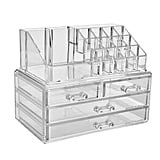 Zhiai Jewelry and Cosmetic Storage Boxes With Brush Holder With 4 Drawer 2 Pieces Set