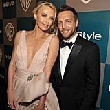 Charlize Theron posed with editor Ariel Foxman.