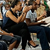 Kerry Washington and Michelle Obama sat with students.