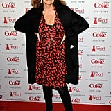 Diane von Furstenberg stepped out for the Heart Truth runway show in a bright print.