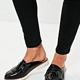 Missguided Black Open-Back Loafers