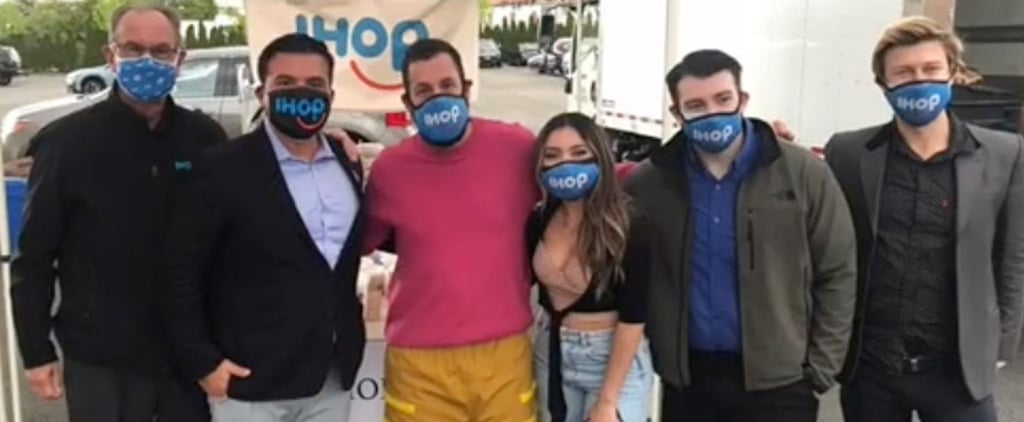 Adam Sandler Reunites With IHOP Hostess For Milkshake Monday