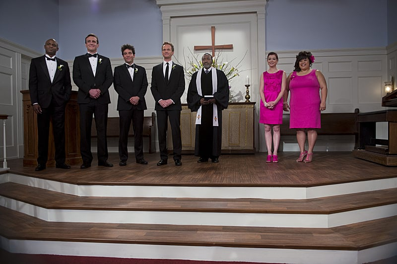 Fast-forward to the penultimate season-nine episode, in which Robin and Barney actually tie the knot.