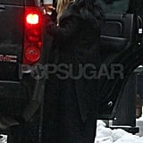 Mary-Kate Goes All Black For a Pre-Fashion Week Coffee Run