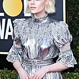 Lucy Boynton's Flipped Out Bob at the 2020 Golden Globes