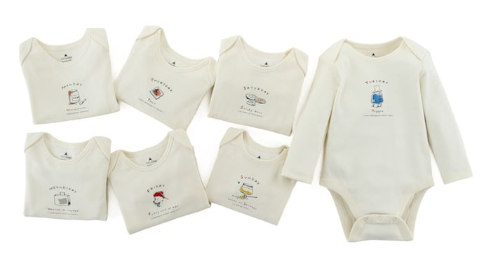 Days of the Week Bodysuits ($55, set of seven)