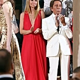 Gwyneth Paltrow and Valentino Garavani at Valentino's July couture show in Rome.