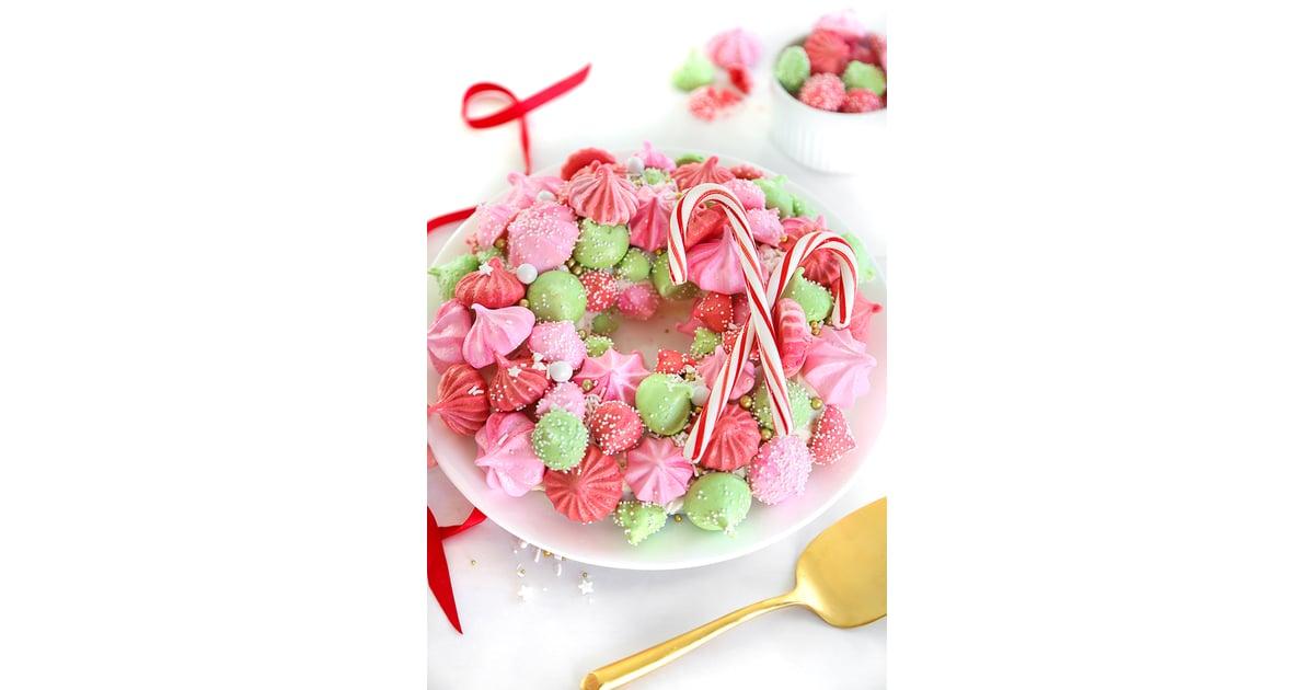 Meringue Christmas Wreath Cake Christmas Dessert Recipes