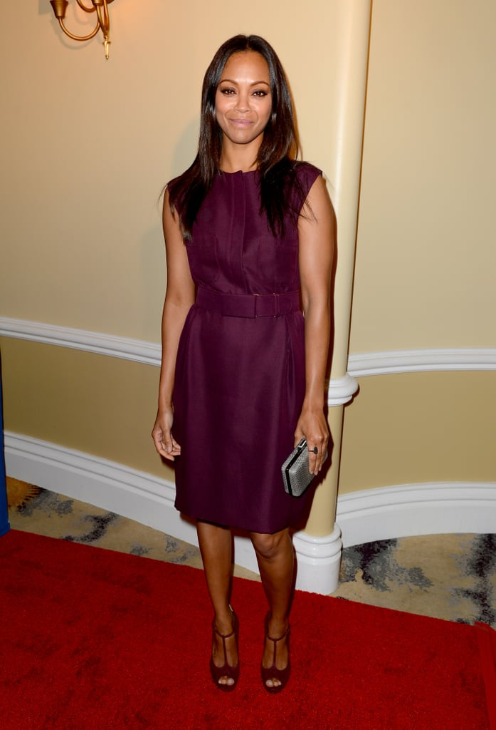 Zoe Saldana stepped out for the Children's Defense Fund Beat the Odds Awards in Beverly Hills.