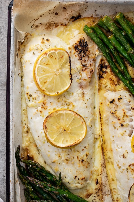 Easy Lemon Butter Baked Fish | Mediterranean Diet Recipes